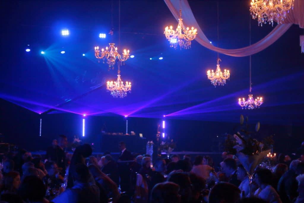 soirée de gala, projections laser volumétriques